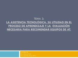 Tema 2: Las bases de la Asistencia Tecnológica