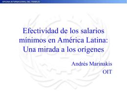 Salarios mínimos en América Latina