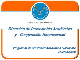 Programa de Movilidad Académica