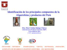 Perfiles cromatográficos de productos andinos en América del Sur