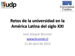Retos de la universidad en la América Latina del siglo XXI