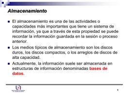 Almacenamiento - Depto. Sistemas de Información