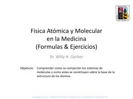 Fisica Molecular y Atómica en la Medicina