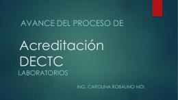 Acreditación DECTC