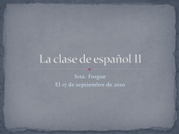 La clase de español II - language