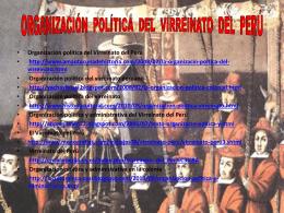 ORGANIZACIÓN POLÍTICA DEL VIRREINATO DEL PERÚ