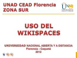Uso del wikispaces