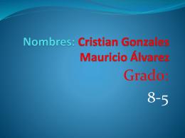 Nombres: Cristian Gonzales Mauricio Álvarez