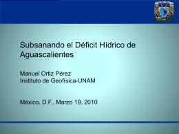 Deficit - Agua en México