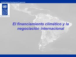 El financiamiento climático y la negociación