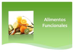 Alimentos funcionales, antioxidantes y fitoquímicos