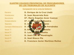 Diapositiva 1 - Ilustre Colegio Oficial de Procuradores de Alicante