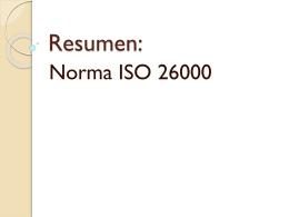 Resumen: Norma ISO 26000