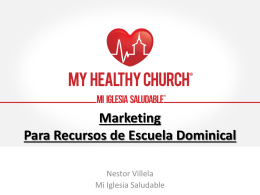 Marketing Para Recursos de Escuela Dominical