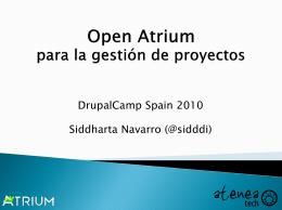 Open atrium gestion proyectos