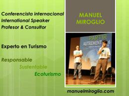 Presentación de PowerPoint - Manuel Miroglio, Conferencista