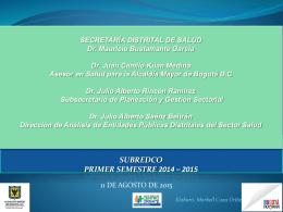 Presentación de PowerPoint - Secretaría Distrital de Salud