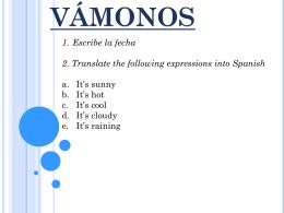 VÁMONOS