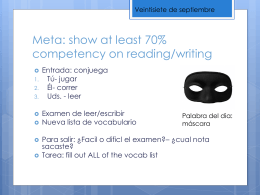 Meta: show at least 70% competency on reading/writing