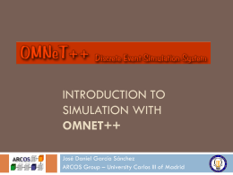 Introduction to simulation with OMNET++