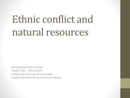 Los territorios indígenas en riesgo: Conflictos por recursos naturales