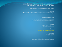Diapositiva 1 - DHPC-FCE