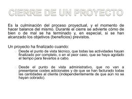 7 Cierre del proyecto web