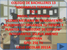 colegio de bachilleres 13 *xochimilco tepepan* tic ii profa