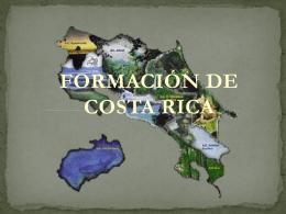 FORMACIÓN DE COSTA RICA
