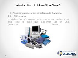 Introducción a la Informática Clase 3