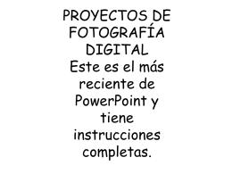 Ensayo fotográfico: Cada proyecto será un