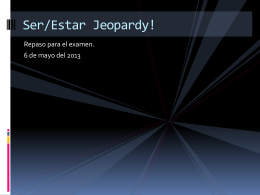 Jeopardy ser estar 11
