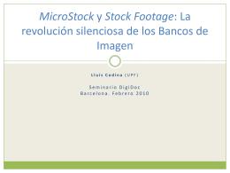 MicroStock y Stock Footage: La revolución silenciosa