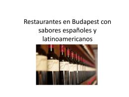 Restaurantes en Hungría con sabores españoles y