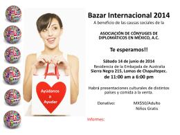 Bazar Internacional 2014