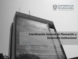1.- Coordinación General de Desarrollo Institucional