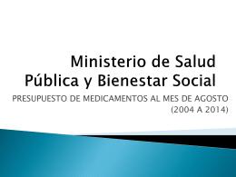 Presupuesto 2013 - Ministerio de Salud Pública y Bienestar Social