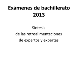 2013 Feedbacks síntesis