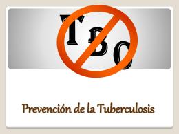 Prevención de la Tuberculosis - conozco