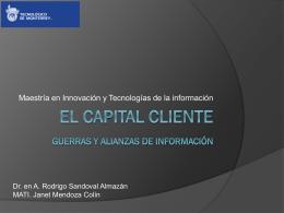 El capital CLIENTE Guerras Y ALIANZAS DE INFORMACIÓN