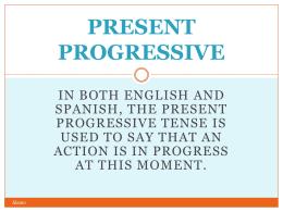 8.1 present progressive
