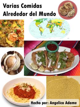 Comidas de alrededor del Mundo