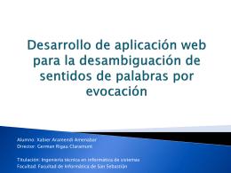 Desarrollo de aplicación web para la desambiguación de sentidos
