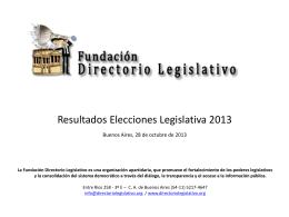 Buenos Aires - Fundación Directorio Legislativo