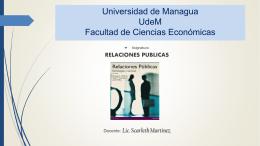 relaciones publicas - Profesora Scarleth Martínez