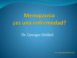 Menopausia ¿Es una enfermedad?