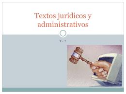 Textos jurídicos-administrativos