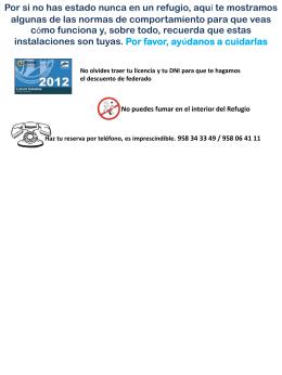 Diapositiva 1 - Refugio Poqueira
