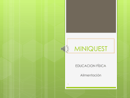 MINIQUEST - ALIMENTACION Y DIGESTION