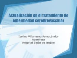 3 Actualización en el tratamiento de enfermedad cerebrovascular